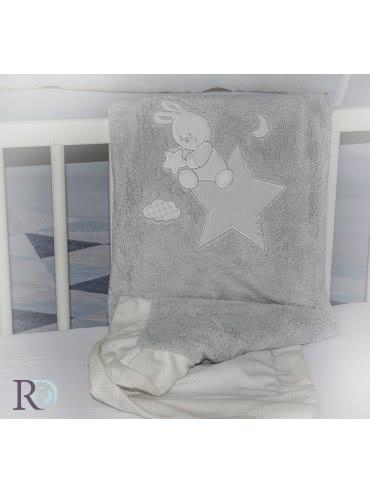 Роксима Дрийм, Доди Сиво с Апликация Бебешко одеяло