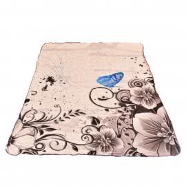 Панагюрище 1962 - Одеяло DF пано печат Пеперуда Синя
