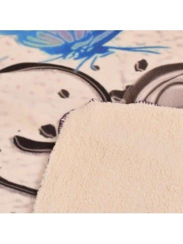 Панагюрище 1962 - Одеяло DF пано печат Пеперуда Синя 2