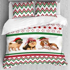 Панагюрище 1962, Коледни Кучета Коледен Спален Комплект 3D Ранфорс