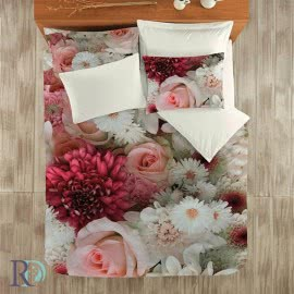 Роксима Дрийм Памучен сатен Спален комплект 3D Bouquet