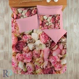 Роксима Дрийм Памучен сатен Спален комплект 3D Sweet Rose