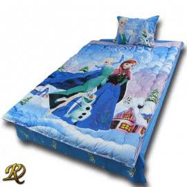 Роксима Дрийм Памучен сатен Спален комплект Замръзналото Кралство