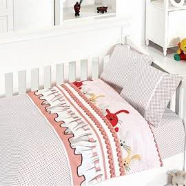 First Choice Бамбук Спално бельо Зайчета розово