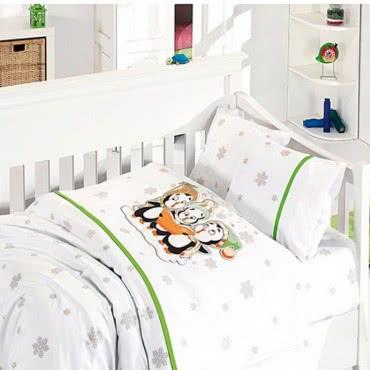 First Choice Бамбук Спално бельо Пингвин Зелено