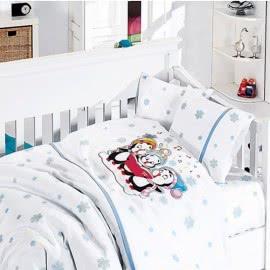 First Choice Бамбук Спално бельо Пингвин Синьо