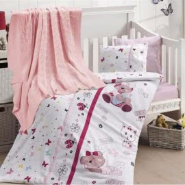 First Choice Бамбук Спално бельо с олекотена завивка Cute Baby