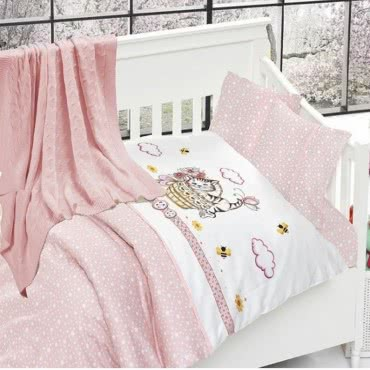 First Choice Бамбук Спален комплект с одеяло Kitty pembe
