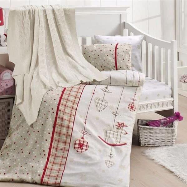 First Choice Бамбук Спален комплект с одеяло Palmi kirmizi