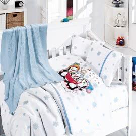 First Choice Бамбук Спален комплект с одеяло Пингвини Синьо