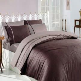 First Choice Памучен сатен Спални комплекти Kahve Vizon