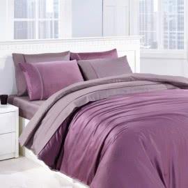First Choice Памучен сатен Спални комплекти Leylak lila
