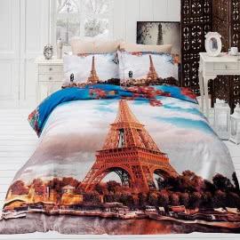 First Choice Памучен сатен 3D Спален комплект Paris City