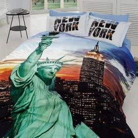 First Choice Памучен сатен 3D Спален комплект New York