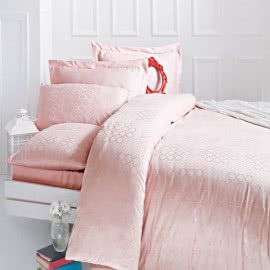 ISSIMO - Жакард Спален комплект Latoya pink