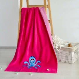 Панагюрище 1962 - Памук полиестер Плажна кърпа Циклама октопод