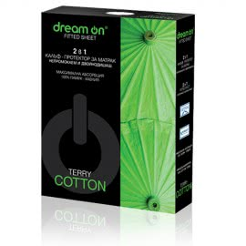 Dream On - Непромокаем и двойнодишащ протектор за матрак Terry Cotton