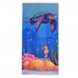 Панагюрище 1962 - Дигитален печат Плажна кърпа Морски приятели