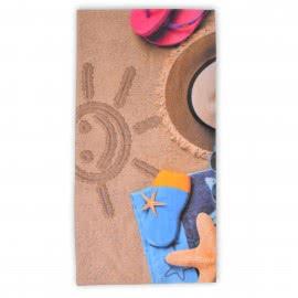 Панагюрище 1962 - Дигитален печат Плажна кърпа Пясъчна усмивка