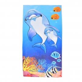 Панагюрище 1962 - Дигитален печат Плажна кърпа Семейство делфини