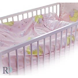 Роксима Дрийм Ранфорс Бебешко спално бельо Слонче розово